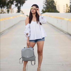 🆕 Shop Blush Elegance: White Striped Top